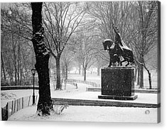 King Jagiello Braves A Blizzard Acrylic Print