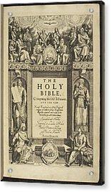 King James Bible Acrylic Print