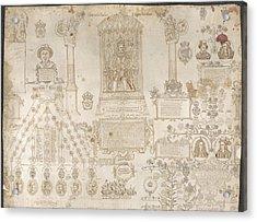 King James I Enthroned Acrylic Print
