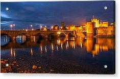 King John's Castle Limerick City Ireland Acrylic Print by Pierre Leclerc Photography