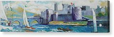 Acrylic Print featuring the painting King Johns Castle Limerick Ireland by Paul Weerasekera