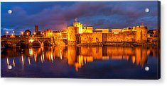 King John's Castle On The River Shannon Acrylic Print by Pierre Leclerc Photography