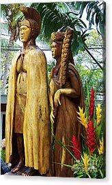 King Kamehameha Acrylic Print by Brigitte Emme