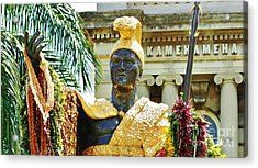 King Kamehameha The First Acrylic Print by Craig Wood