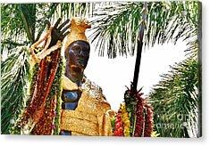 King Kamehameha The Great Acrylic Print by Craig Wood