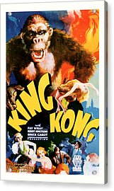 Acrylic Print featuring the mixed media King Kong 1933 Movie Art by Presented By American Classic Art