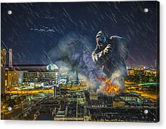 Acrylic Print featuring the photograph King Kong By Ford Field by Nicholas  Grunas