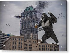 Acrylic Print featuring the photograph King Kong In Detroit At Wurlitzer by Nicholas  Grunas