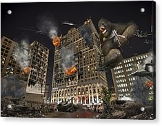 Acrylic Print featuring the photograph King Kong In Detroit Westin Hotel by Nicholas  Grunas