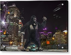 Acrylic Print featuring the photograph King Kong On Jefferson St In Detroit by Nicholas  Grunas