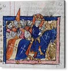 King Leading Crusaders Acrylic Print