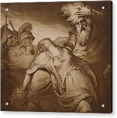 King Lear And Cordelia Acrylic Print by James Barry