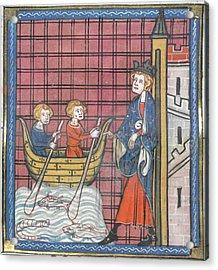 King Louis Ix Sails For France Acrylic Print