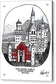 King Ludwigs Castle  Acrylic Print by Frederic Kohli