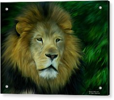 Acrylic Print featuring the painting King by Maria Urso