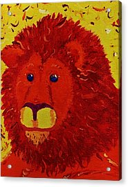 King Of Beasts Acrylic Print by Yshua The Painter