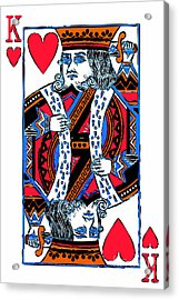 King Of Hearts 20140301 Acrylic Print by Wingsdomain Art and Photography