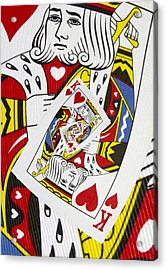 King Of Hearts Collage Acrylic Print