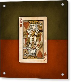King Of Hearts In Wood Acrylic Print by YoPedro