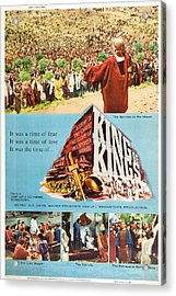 King Of Kings, Us Poster Art, 1961 Acrylic Print by Everett