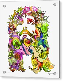 Acrylic Print featuring the painting King Of Not Of This World by Dave Luebbert