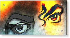 King Of Pop Eyes Acrylic Print by Teresa Thomas
