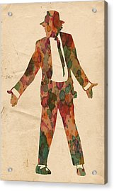 King Of Pop In Concert No 1 Acrylic Print by Florian Rodarte