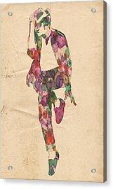 King Of Pop In Concert No 3 Acrylic Print by Florian Rodarte