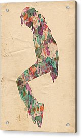 King Of Pop In Concert No 8 Acrylic Print by Florian Rodarte