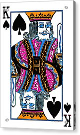 King Of Spades - V3 Acrylic Print by Wingsdomain Art and Photography