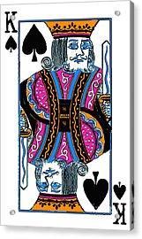 King Of Spades - V3 Acrylic Print
