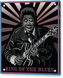 King Of The Blues Acrylic Print by Larry Butterworth