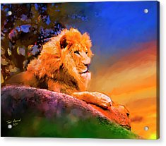 King Of The Jungle Acrylic Print by Ted Azriel