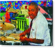 King Of Treme Acrylic Print by Kevin Rogerson