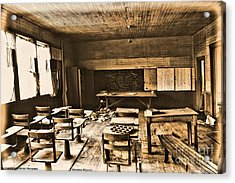 King School 1916 To 1948 Acrylic Print by Michelle and John Ressler