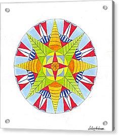 Kingdom Mandala Acrylic Print by Silvia Justo Fernandez