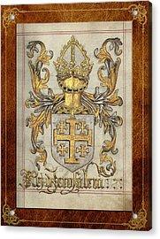 Kingdom Of Jerusalem Medieval Coat Of Arms  Acrylic Print