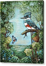 Acrylic Print featuring the painting Kingfishers Cove by VLee Watson