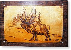 Kingof Forest-wood Pyrography Acrylic Print by Egri George-Christian