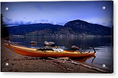 Acrylic Print featuring the photograph Kings Beach - Okanagan Lake - Kayaking by Guy Hoffman