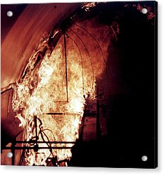 King's Cross Fire Simulation Acrylic Print by Crown Copyright/health & Safety Laboratory Science Photo Library