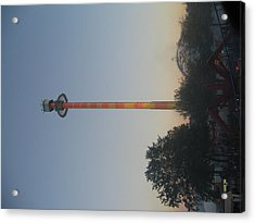 Kings Dominion - Drop Tower - 01131 Acrylic Print by DC Photographer