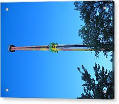 Kings Dominion - Drop Tower - 12126 Acrylic Print by DC Photographer