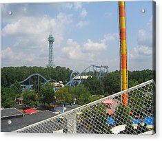 Kings Dominion - Shockwave - 01132 Acrylic Print by DC Photographer