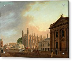 Kings Parade, Cambridge, Thomas Malton The Younger Acrylic Print by Litz Collection