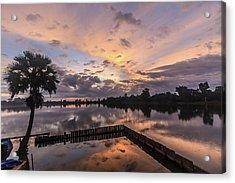 Kings Pool At Angkor Wat Acrylic Print
