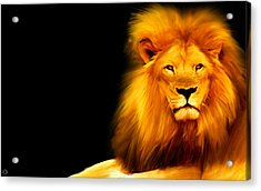 King's Portrait Acrylic Print by Lourry Legarde