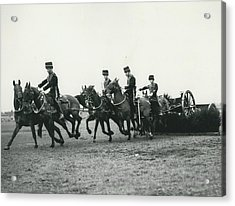 King�s Troop Of The R.h.a. Rehearse�. Even The Gun Goes Acrylic Print by Retro Images Archive