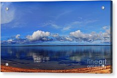 Kingscote View Acrylic Print by Stephen Mitchell