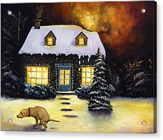 Kinkade's Worst Nightmare Acrylic Print by Leah Saulnier The Painting Maniac